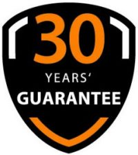 30 years guarantee on gutter systems