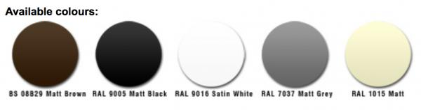 five seamless colour options
