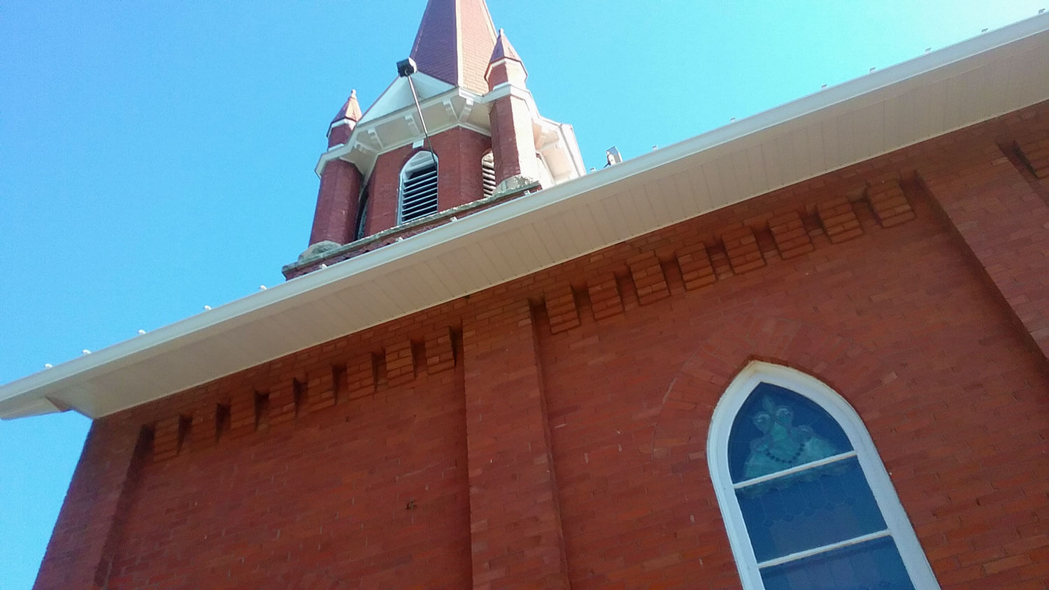 soffits on church building